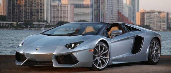 Lamborghini Aventador Roadster rental miami